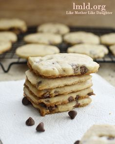 Chocolate Chip Shortbread Cookies from Like Mother Like Daughter