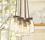 PB light fixture for above my kitchen sink...     Want to make this cluster for above my sink and then a single for above our breakfast bar... so cute!