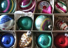 Vintage baubles. Love Love Love ornaments from the 50's & 60's