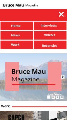 Homepage mobile schets nav