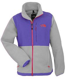 North Face Denali Womens ANLP-EAW Grey Starry Purple Fleece Jacket Wmns Size XL