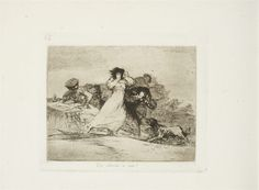 """""""Que Alboroto es Este?"""" from """"Los Desastres de la Guerra"""" (1810-1820), Francisco Goya"""