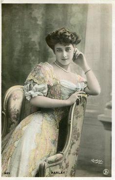 Vintage French RPPC Postcard Actress Miss Harlay Reutlinger N457 | eBay