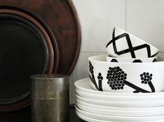 Marimekko's Oiva - Hortensie bowl 1,5 L