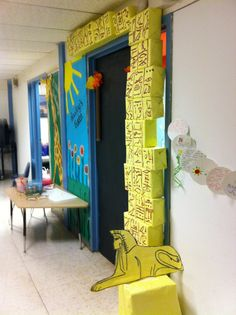 Egypt door for classroom