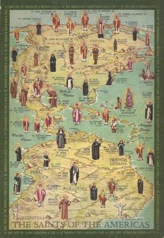 Map of the Saints of the America's. Pretty amazing!