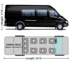 Luxery mercedes benz mini vans 14 passenger van rentals for Mercedes benz sprinter rental chicago