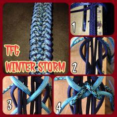 Winter Storm Paracord Tutorial, Paracord Ideas, Paracord Knots, Rope Knots, Paracord Projects, 550 Paracord, Paracord Bracelets, Bracelets For Men, Sewing Cards