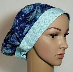 Womens Scrub Hat Navy Blue Paisley Euro Pixie Nurses Gifts First Assist Cap Chemo Hat Nurses  Scrub Hat Surgeon's Scrub Hat Surgical Scrub by MyScrubHats on Etsy