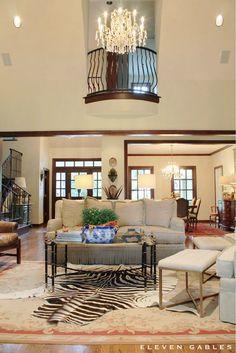 Living Room Styling | Zebra rug