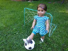 doll soccer, doll crafts, ag doll, american girl dolls crafts, soccer net, american girls