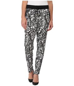 Calvin Klein Calvin Klein  Printed Pants w Trim String Womens Casual Pants for 47.99 at Im in!