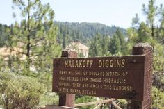 We just visited the Malakoff Diggins.  Learn more about it's history and taking your own trip: http://blog.thediggings.com/malakoff-diggins/