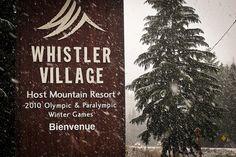 Snowfall in the Village in November! by GoWhistler, via Flickr
