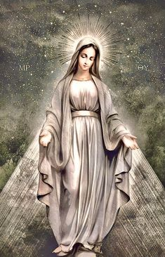 Our Lady of Mt. Divine Mother, Blessed Mother Mary, Blessed Virgin Mary, Catholic Prayers, Catholic Art, Religious Art, Jesus And Mary Pictures, Mary And Jesus, Mother Mary Images