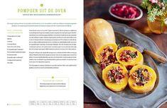 Gevulde pompoen uit de oven van Jamie Oliver, met cranberryrijst