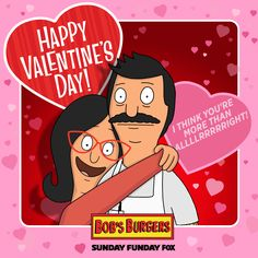 Linda Belcher knows the way to your lovers' heart this Valentine's Day. Linda Belcher knows the way to your lovers' heart this Valentine's Day. The Office Valentines, Nerdy Valentines, Saint Valentine, Valentine Day Cards, Valentine Crafts, Happy Valentines Day, Valentine Cookies, Bobs Burgers Funny, Hugs And Kisses Xo