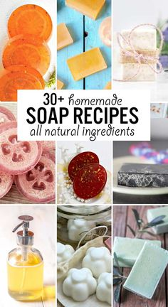 Do you have sensitive skin or are you interested in learning how to make soap yourself? Try out one of these 30 soothing homemade soap recipes! Each of these recipes is made with natural ingredients (no dyes or perfumes) that won't irritate your skin. Homemade Playdoh Recipe, Homemade Deodorant, Homemade Soap Recipes, Cleaning Recipes, Diy Cleaning Products, Diy Products, Beauty Products, Natural Beauty Recipes, Diy Beauty