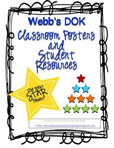 Critical Thinking and DOK-- Classroom posters and student resources  $