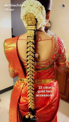 South Indian Wedding Hairstyles, Bridal Hairstyle Indian Wedding, South Indian Bride Hairstyle, Hairdo Wedding, Bride Hairstyles, Saree Hairstyles, Indian Hairstyles, Bridal Hairdo, Saree Wedding