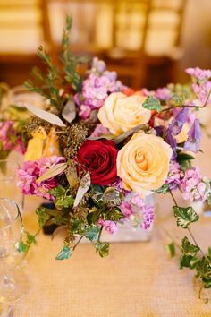 Photo: Fabrice Tranzer - wedding centerpiece idea