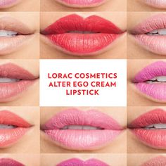 Secret Agent, Goddess, or the Girl Next Door? Even if it's just for the night, LORAC Cosmetics, Alter Ego Lipsticks can help you create the look you desire