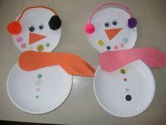paper plate snowman or perhaps @Alli Lamb I should create a A preschool board?