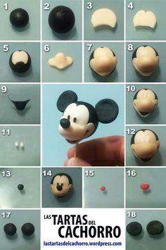Mickey Mouse! Tutorial cómo hacer un Mickey Mouse en fondant