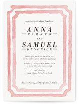 """""""Watercolor Frame"""" - Customizable Wedding Invitations in Pink by Laura Condouris. Formal Wedding Invitations, Reception Invitations, Foil Stamped Wedding Invitations, Wedding Invitation Design, Invites, Watercolor Invitations, Wedding Frames, Wedding Ideas, Green Wedding Shoes"""