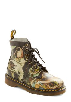 Musings in Madrid Boot by Dr. Martens - Low, Multi, Statement, Urban, Best, Lace Up, Novelty Print, Vintage Inspired, 90s ((7))
