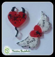 #Devil #Herz #Flügel #Rot #Weiß #Teufel