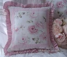 Image result for rose fabric pillows