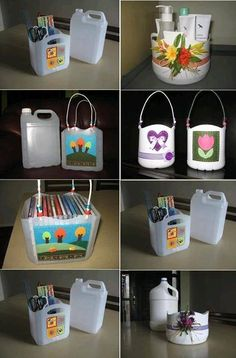 A box of recycled materials - DIY Creative