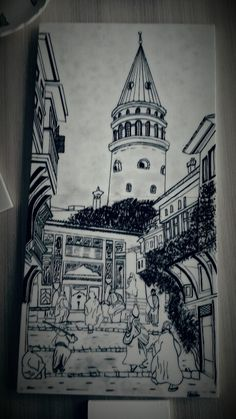 çini galata Glass Painting Designs, Paint Designs, Istanbul, City Drawing, Tile Panels, Glazes For Pottery, Islamic Calligraphy, Tile Art, Traditional Art