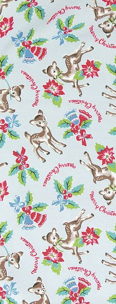 Cooking & Dining Christmas Deer, Christmas Past, Merry Little Christmas, Retro Christmas, Winter Christmas, Vintage Christmas Wrapping Paper, Vintage Christmas Images, Christmas Gift Wrapping, Vintage Holiday