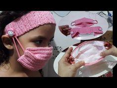 Máscara e faixa com suporte pra não incomodar a orelha face mask - YouTube Crochet Mask, Crochet Faces, Easy Face Masks, Diy Face Mask, Crochet Clothes, Diy Clothes, Sewing Patterns, Felt Owls, Masks