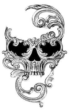 Venetian mask of death