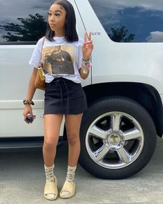Boujee Outfits, Baddie Outfits Casual, Swag Outfits For Girls, Cute Swag Outfits, Dope Outfits, Teen Fashion Outfits, Girly Outfits, Pretty Outfits, Summer Outfits