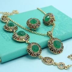 Cheap necklace fixings, Buy Quality necklaces for pandora beads directly from China jewellery diy Suppliers:    2015 New Fashion Turkish Jewelry Collar Feminino Antique Gold Tin Alloy Tukishe Necklace Earring Set Brand Vintage Je