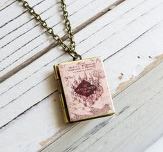 Book Locket by FabulousFunkys on Etsy