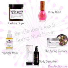 Spring is here, and I have five of my most favorite things to get you ready! Check 'em out :) Organic Makeup, Organic Beauty, Natural Beauty, Beauty Tips, Beauty Hacks, Body Scrubs, Spring Is Here, Spring Cleaning, Cellulite