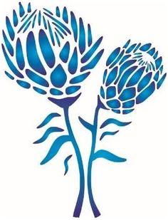 Mandala Stencils, Stencil Art, Stencil Designs, Protea Art, Protea Flower, Dot Art Painting, Pottery Painting, Lilies Drawing, Flower Silhouette