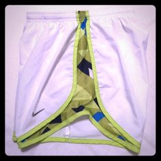 Nike Dri-fit Temp work out shorts! Rare & Unique white with blue and lime pattern ! Excellent condition! no trades or holds. I love loveoffers! Nike Shorts