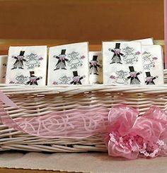Wedding Couple Tissue Handkerchiefs from Wedding Favors Unlimited