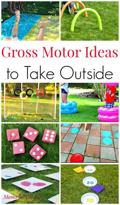 14 Gross Motor Ideas to Take Outside Gross Motor Ideas to Take Outside. Play outside. Summer fun outside working your gross motor skills. Childhood fun outside. Jumping, throwing and running fun for kids Outside Activities For Kids, Summer Fun For Kids, Gross Motor Activities, Outdoor Activities For Kids, Gross Motor Skills, Summer Activities For Kids, Fun Activities, Nursery Activities, Kids Fun