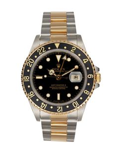 Men's GMT Master Black Dial Watch by Rolex