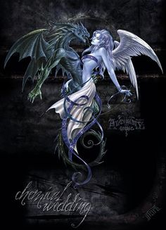 The Dragon & The Angel: Chemical Wedding - my husband wants a tattoo based off this on his back.