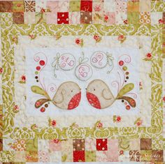 Oh my, I just love this quilt.  These birds are adorable!