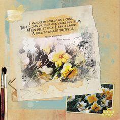 Golden Daffodils - Oscraps Gallery