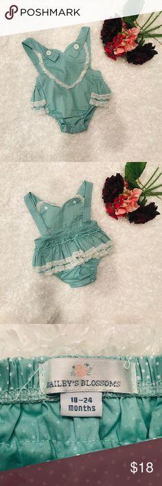 f640c6bba1ef 🎊🌸HP🌸🎊Baby Girl s Romper NWOT Bailey s Blossom offers this adorable  polka dot ruffle bottom romper
